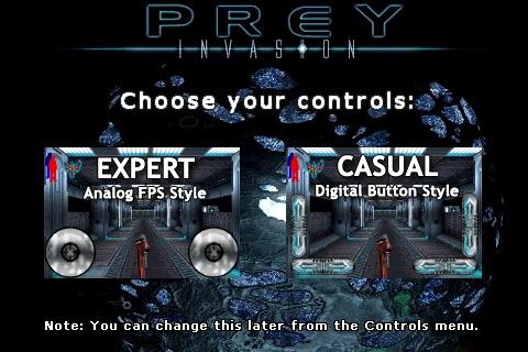 Prey Invasion Controls