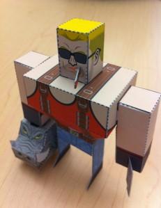 Duke Nukem Forever foldable paper craft