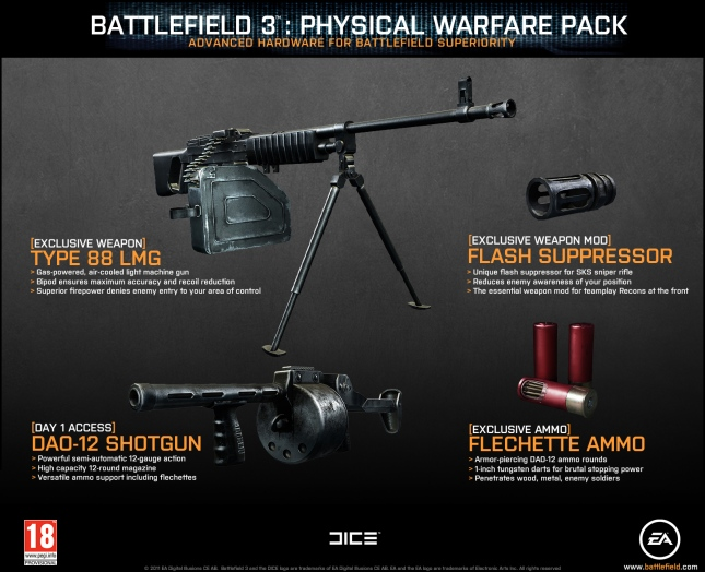 Battlefield 3 Limited Edition: Physical Warfare Pack