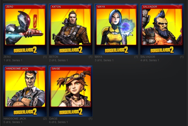 Borderlands 2 Steam Trading Cards Beta_all