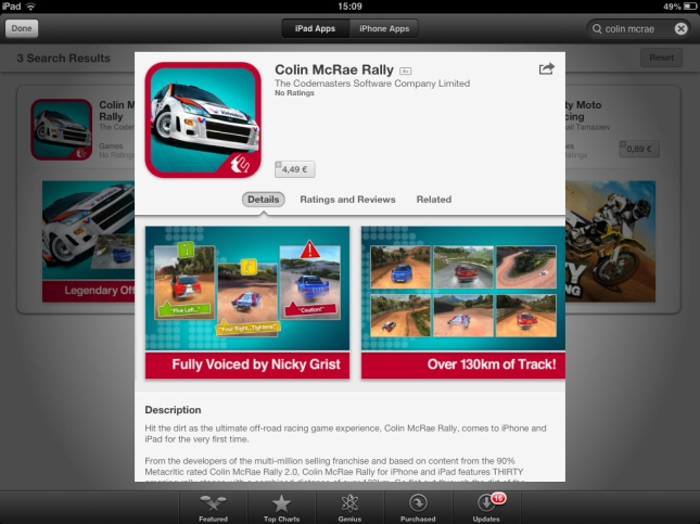 Colin McRae Rally for iOS