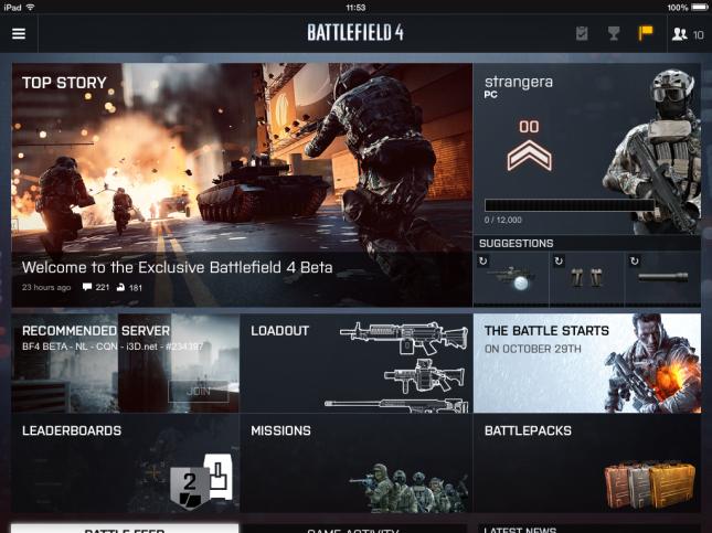 Battlelog iOS iPad (2)