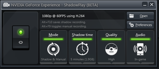 ShadowPlay Options