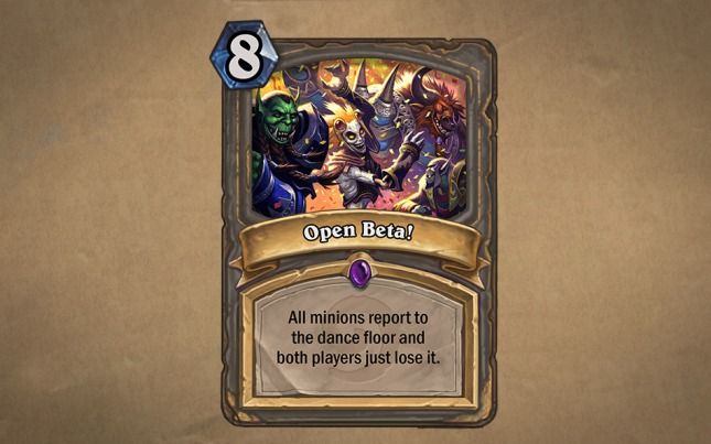 Hearthstone - Open Beta card