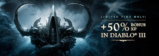 +50% bonus XP in Diablo III