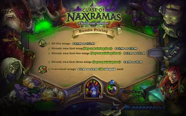 Curse of Naxxramas Pricing