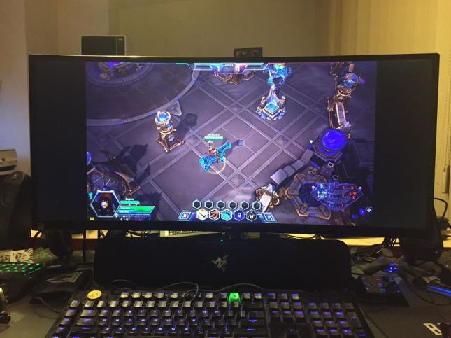 Heroes of the Storm on LG 34UC97