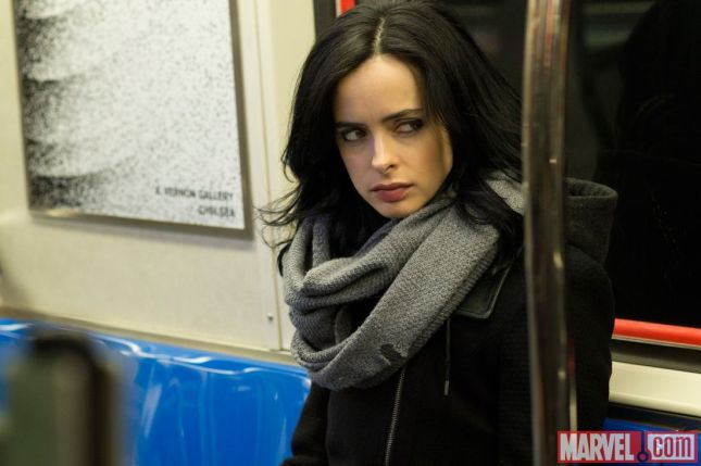 Krysten Ritter plays the titular Jessica Jones