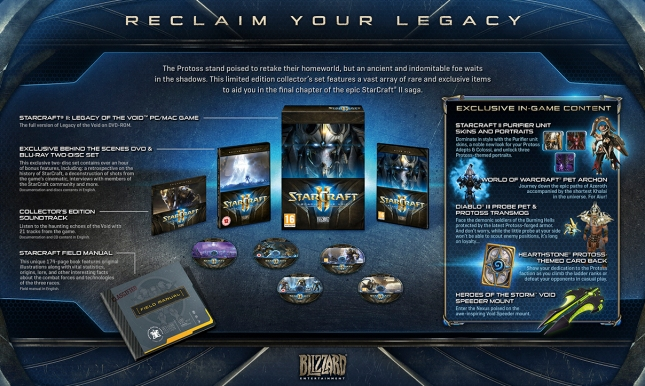 Legacy of the Void Collector's Edition content