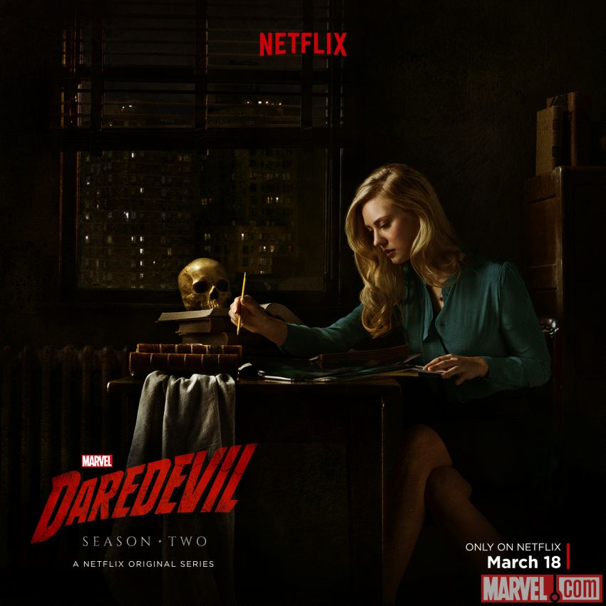 Deborah Ann Woll stars as Karen Page in Marvel's Daredevil Season