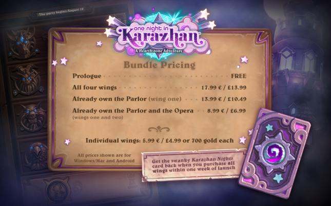 One Night in Karazhan - price
