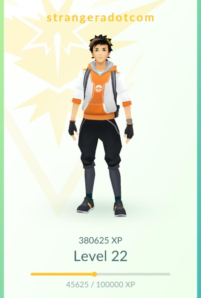 Pokémon GO - 3 weeks - 22 level