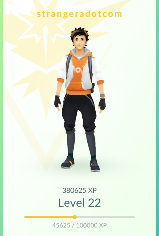 Pokémon GO - 3 weeks - 22 level
