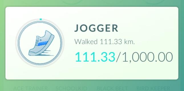 Pokémon GO - 3 weeks Jogger